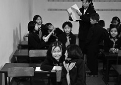 PRK-Pyongyang-0811-488-bw2 (anthonyasael) Tags: school friends portrait people students smile smiling horizontal bench children happy person student education friend asia child friendship classroom desk drawing interior happiness places korea east together portraiture cheerful fareast educate pupil pupils schooluniform northkorea pyongyang eastasia dprk neckerchief prk toothysmile elementarystudent topb childrenonly elementarystudents anthonyasael fareastasia democraticrepublicofnorthkorea democraticrepublicofnorthkoreadprk