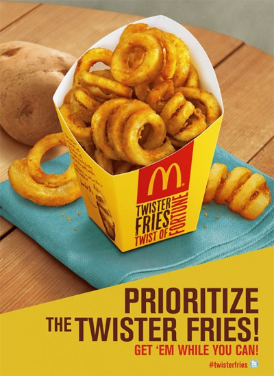 McDo Twister Fries are back! - Prioritize the Twister Fries