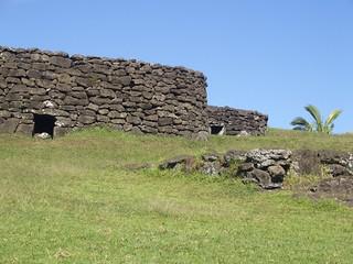 Hanga Roa, Anciennes habitations