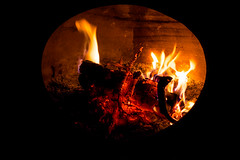 Chiminea (Gary Allman) Tags: fujifilmxe2s leatherjournal gsa relaxation chiminea fire oillamp backyard