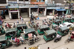 H504_3501 (bandashing) Tags: traffic transport street rickshaw cng tuktuk motorbike bike bicycle people walk ride passengers shops jam chaos sylhet manchester england bangladesh bandashing aoa socialdocumentary akhtarowaisahmed