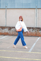 Styling a basic white top and denim: Marks & Spencer white bell-sleeve shirt and wide leg cropped jeans | Not Dressed As Lamb (Not Dressed As Lamb) Tags: white fashion shirt modern top style marks ms denim spencer fashionista edgy ss16