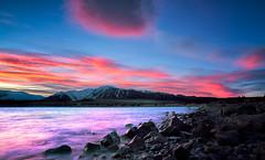 Lake Tekapo Sunrise (Matthew Kelly LP) Tags: nikond810 mountains snow winter southisland tekapo lake sunrise newzealand laketekapo