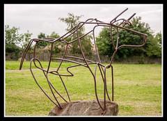 Bull (veggiesosage) Tags: nottingham bulwell sculpture gx20 aficionados bulwellforest publicart urbanart park tamronspaf1750mmf28xrdiiildasphericalif