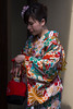 Thirsty Maiko (HansPermana) Tags: kyoto japan gion traditional city cityscape kimono geisha geiko maiko culture cultural dresses colorful