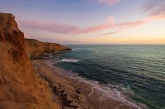 Secrets of Nod (kirstenscamera) Tags: sunset sunsetcliffs sandiego sd ca california shore coast beach clouds water ocean pacificocean dunes aftersunset air sky horizon serene nikon july 2016