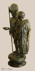 Warrior and woman (DameBoudicca) Tags: italy italien italia italie  marzabotto kainua etruscan etruskisk etruskisch trusque etrusco etruria etrurien trurie  muse museum museo  bronze brons bronzo bronce  kvinna frau femme woman mujer donna  warrior krigare krieger guerrero guerrier guerriero   scultura sculpture escultura skulptur  statue staty statua estatua