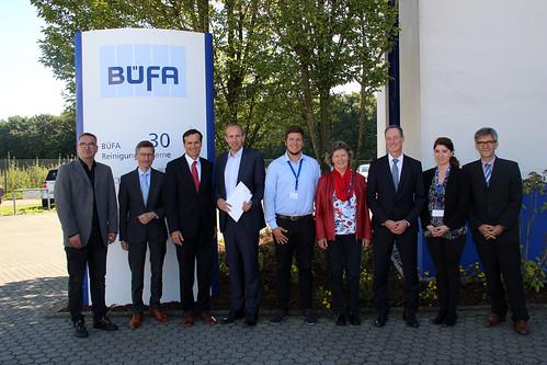 Besuch bei BÜFA Reinigungssystem in Oldenburg mit dem SPD-Ortsverein Nord.