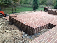 construction (23) (The Sharper Cut Landscapes) Tags: brick walkway steps patio thesharpercutlandscapes thesharpercut landscapedesign landscaping landscapelighting