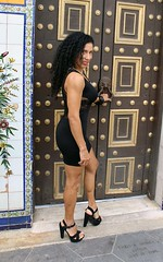 Columbian Beauty at Columbia Restaurant (California Will) Tags: model sheer bella blackdress beautiful edna latina beauty hersoma ybor florida fl