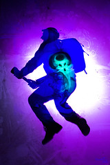 Ghostbusters (David (DaveAstur)) Tags: daveastur eduardo cajigal luis medina lightpainting pintura de luz long exposure larga exposicion gostbusters cazafantasmas alien silueta