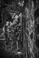 Obstacle Race in Bergen (huddart_martin) Tags: sports people obstacle hinder running action sonya99 climbing jumping bergen norway norge trolljegerprven blackandwhite monochrome
