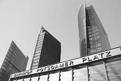 Mama Berlin (Hoppipolga) Tags: berlin germany deutschland bw bianconero potsdamerplatz platz square trainstation canon trip travel europe