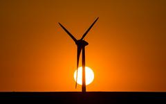Natural power (Pingo2002) Tags: canon 7dmk2 sigma 150600 windturbine windpower sunset sweden skne scania sun solarpower