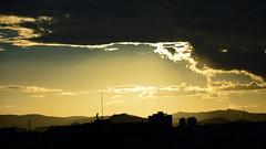Sunset Barcelona (Edgar Toms) Tags: barcelona urban vsco nikon nikond3200 bcn street light night nocturno noche luces fuente montjuic bnw skyline