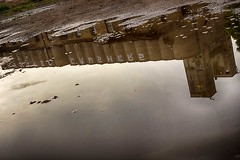 Crusher Puddle (TwinCitiesSeen) Tags: reflection semi minneapolis minnesota abandoned graffiti canont3i tamron2875mm twincities twincitiesseen
