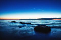 Blue Waves (Niks Freimanis) Tags: blue sea waves nd filter long exposure sunset dunte jurmala jura jra stones akmeni canon 1740 l wide angle hoya nd8 hmc 70d night