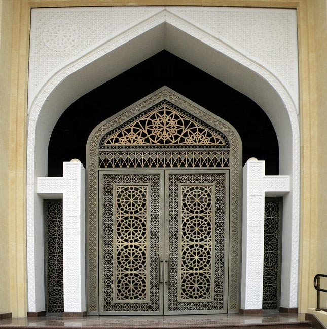 Heavy Metal Door (Kombizz) Tags: Door Metal Pattern Gulf Middleeast Mosque  Wahab Heavy