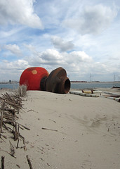 Maasvlakte2 (Harry -[ The Travel ]- Marmot) Tags: new urban orange haven man holland beach netherlands dutch proud clouds strand port project coast rotterdam sand rust industrial open space empty nederland rusty noordzee wolken made northsea future land coastline maas industrie zone waterway roest rijkswaterstaat zand kust luchten zuidholland ruimte leeg civilengineering vergezicht leegte toekomst civieletechniek dutchclouds hollandse toekomstig hollandseluchten waterweg vergezichten handgemaakt reclamed verkeerenwaterstaat wijdsheid industriegebied mainport tweedemaasvlakte spuitmonden maasvlakte2 maasvlaktetwee opgespoten