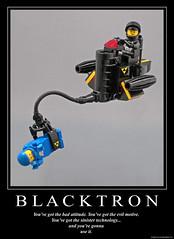 B L A C K T R O N (halfbeak) Tags: lego sinister evil cs lsb moc badattitude blacktron grappler classicspace legospeederbikes