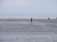 DSCF4867 (thecrookedfoo) Tags: beach water wall sand ironman gormley crosby