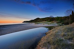 """Otter Creek Sunset"" Lake Michigan Sleeping Bear Dunes National Lakeshore (Michigan Nut) Tags: sunset sky usa clouds photography spring midwest michigan lakemichigan sleepingbeardunes refelction ottercreek johnmccormick empiremichigan eschroad michigannutphotograph"