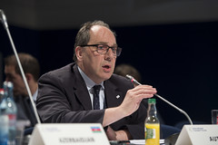 Christian Weissenburger of Austria speaks at the session