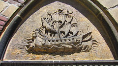 """Manchester House"" (Galleon Relief) (SardineTea) Tags: nyc newyorkcity newyork architecture buildings relief upperwestside oldnewyork uws galleon beauxart emeryroth manchesterhouse sardinetea dukeofmanchester galleonrelief"