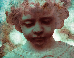 Angel Boy (squint photo) Tags: cemetery graveyard angel headstone cemetary fineartphotography angelboy nikond80 sonjaquintero squintphotography