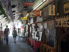 Pretended Retro (kasa51) Tags: street city people sign japan tokyo olympus panasonic pancake 20mm omd 看板 f17 有楽町 em5 ガード下 urbanarte レトロ風