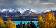 Autumn Blues (Dylan Toh) Tags: blue autumn newzealand cloud mountain lake snow storm fall landscape photography colours dee mountcook pukaki everlook