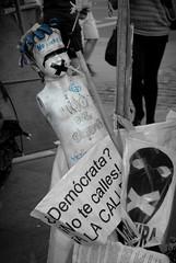 Hijo del sistema (xIsabelax) Tags: madrid white black blanco sol negro 15m spanishrevolution acampadasol