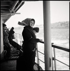 contemplating • istanbul, turkey • 2012 (lem's) Tags: woman smile scarf turkey boat femme hijab istanbul bronica foulard bateau sourire bosphorus contemplating bosphore zenza contempler autaut turqiue istanbulfreephotography