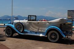 Blue car on the Pavillion Bleu (zawtowers) Tags: blue sea sky sun holiday france film car festival vintage french riviera cannes famous wheels may cte resort bleu promenade shining pavillion 2012 dazur