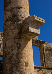 Roman Columns, Apamea, Syria (Eric Lafforgue) Tags: color colour history rock vertical architecture outdoors ancient day roman bluesky arab journey syria column exploration majestic ancientcivilization thepast byzantine hama siria levant 145 syrien syrie sirja traveldestinations colorimage suriye   apamea syri oldruin pharmake  sria szria afamia seleucid  westernasia    ghabplain suriah sirija  cp  sora