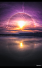 Halo solaire 22 (Tazer - Anthony Ith) Tags: lake reflection clouds canon germany landscape deutschland see cloudy lac halo fisheye tokina reflet nuages bodensee hdr highdynamicrange hdri 1017 50d 22 halosolaire lacdeconstanceallemagne