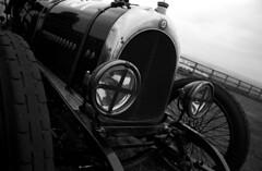 Vintage car front (Julian Dyer) Tags: blackandwhite cars vintage racing vintagecars hillclimb motorsport vscc ilfordfp4 harewood canon500 harewoodhillclimb homedevelopment homeprocessing