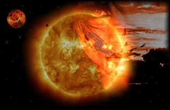 De la mano del fuego y del silencio en un viaje al espacio... (conejo721*) Tags: sol argentina venus amor pájaros cielo palabras mardelplata espacio poesía poema sentimientos rostrodemujer conejo721