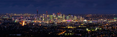 Beautiful Brisbane (Eloise Claire) Tags: sunset panorama night canon twilight view dusk pano australia brisbane brisvegas queensland mountcoottha mtcoottha mountcootha mtcootha