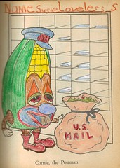 Selections From The Munchie Mellon Coloring Book 1968 (A.Currell) Tags: from book ben surreal drawings company cents tm western coloring 1968 29 division melon edition wi publishing whitman mellon postman authorized racine greenberg selections the druggie munchie cornie scan01