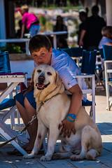 perro de chiringuito (Evita.D [vado e vengo]) Tags: espaa dog beach cane spain dante teo playa perro matteo spiaggia chiringuito spagna javea xabia