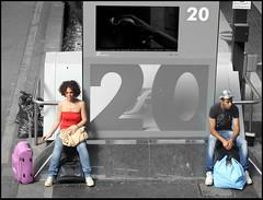 ad ognuno il suo (emilype) Tags: people blancoynegro cutout couple bn voyeur attimi centrale nonluoghi panchine stazionecentrale coppie blackwhitephotos bnvitadistrada