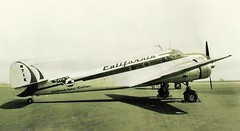 Lockheed, Model 12A, Electra Junior (San Diego Air & Space Museum Archives) Tags: lockheed cca nc17 ns1 model12 nc1 n1k ns17 electrajunior n71k lockheedelectrajunior californiacentralairlines nc1k