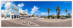 Front Street, Bermuda (Max Kehrli) Tags: street city panorama birdcage canon island hamilton wide front bermuda stitched frontstreet 2470 cityofhamilton 3136 5dmarkii 5dii