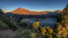 Mt Rinjani with its crater Photo
