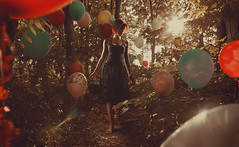 (Csheemoney) Tags: composite forest walking alone balloon redhead dreamy belgrade melancholy retouch beograd compositing happysad nemanja saturnine pesic