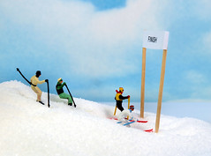 Project 366 - 7/8/2012 - 190/366 (cathy.scola) Tags: ski race miniature skiing sugar ho littlepeople figurine 187 tinypeople hoscale photofinish hofigures project365 humanrepresentation msh0712 msh071218