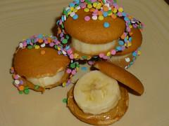 Peanut Butter Banana Bites! (steamboatwillie33) Tags: summer kitchen kids recipe dessert fiesta chocolate grand banana sprinkles butter snack peanut bites simple 2012 nilla wafers