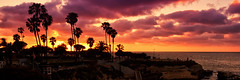 La Jolla Sunset Pano (boingyman.) Tags: california sunset panorama silhouette canon landscape sandiego pano lajolla sd crop scape 1022 3x1 t2i boingyman
