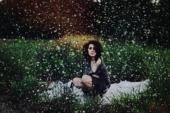 (emmakatka) Tags: summer portrait snow cold girl grass self warm emma katka